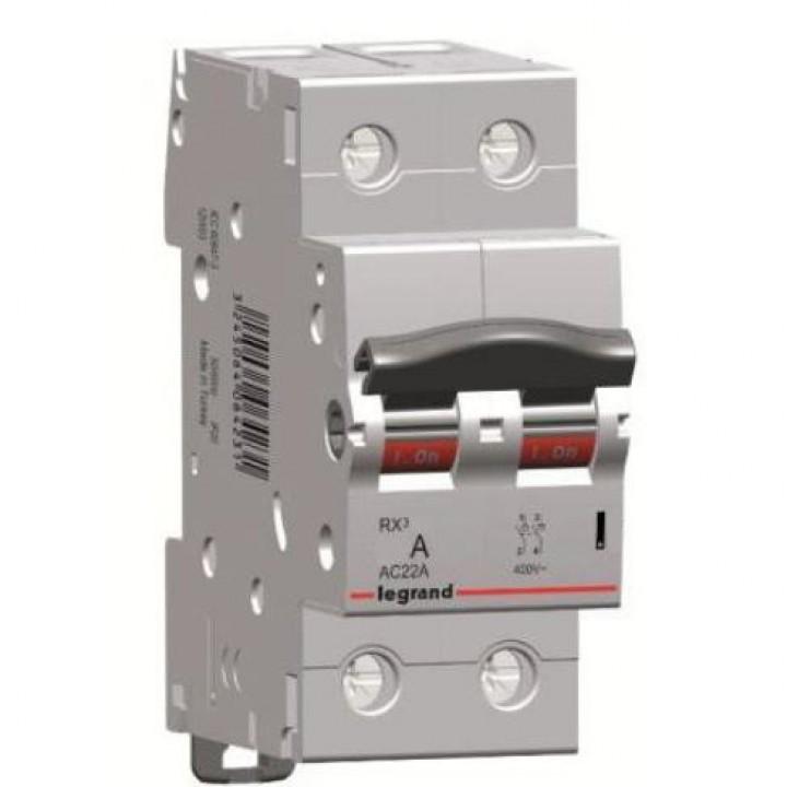 419408 L419408 RX3 Выключатель-разъединитель 63А 2П Legrand
