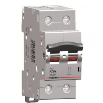 L419409 RX3 Выключатель-разъединитель 80А 2П