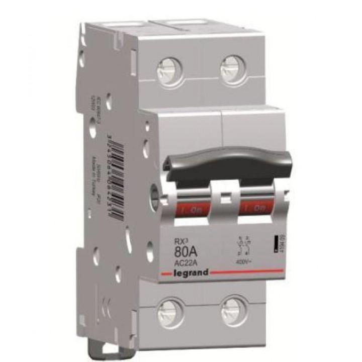 419409 L419409 RX3 Выключатель-разъединитель 80А 2П Legrand