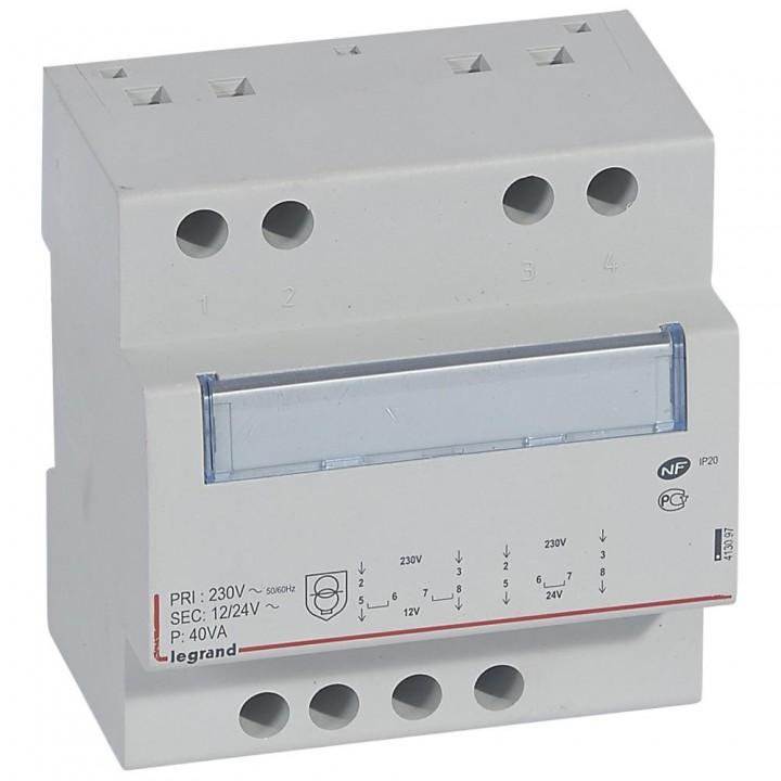 413097 L413097 CX3Трансформатор безоп-ти 230В/12-24В 40Ватт Legrand