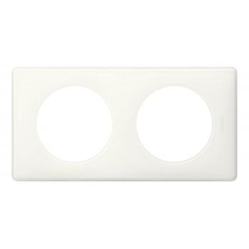 Рамка 2-я, белый глянец, универсальная Celiane