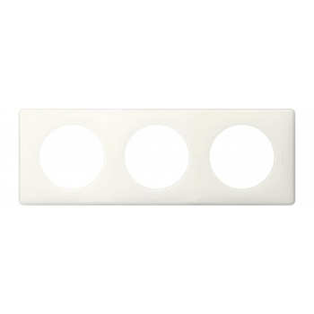 Рамка 3-я, белый глянец, универсальная Celiane