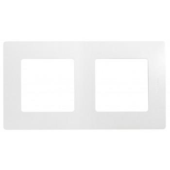 Рамка 2-я, белый, универсальная Etika