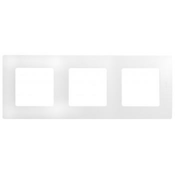 Рамка 3-я, белый, универсальная Etika
