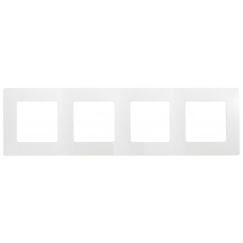 Рамка 4-я, белый, универсальная Etika