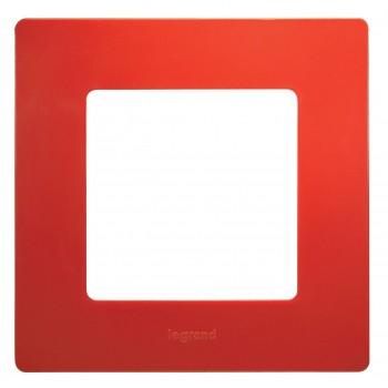 Рамка 1-я, красный, универсальная Etika