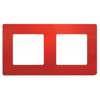 Рамка 2-я, красный, универсальная Etika