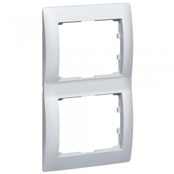 Рамка 2-я, алюминий, вертикальная Galea Life