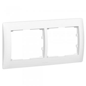 Рамка 2-я, белый, горизонтальная Galea Life