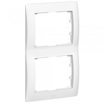 Рамка 2-я, белый, вертикальная Galea Life