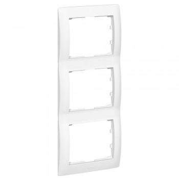 Рамка 3-я, белый, вертикальная Galea Life
