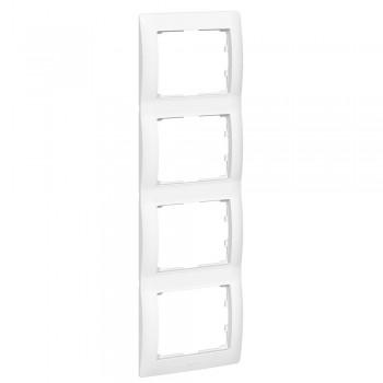 Рамка 4-я, белый, вертикальная Galea Life