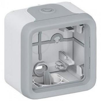 Коробка 1-я, серый, горизонтальная, серый Plexo
