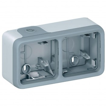 Коробка 2-я, серый, горизонтальная, серый Plexo