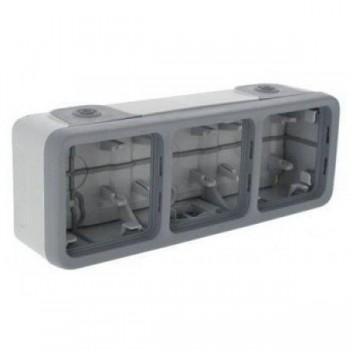 Коробка 3-я, серый, горизонтальная, серый Plexo
