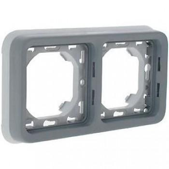 Рамка 2-я, серый, универсальная, серый Plexo