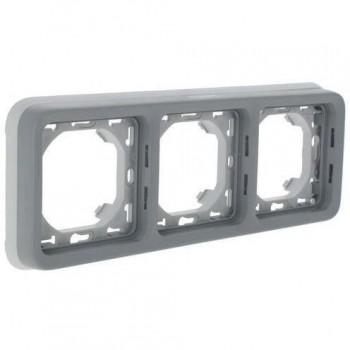 Рамка 3-я, серый, универсальная, серый Plexo