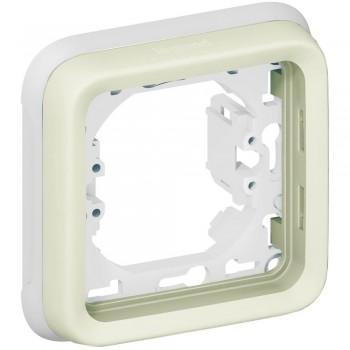 Рамка 1-я, белый, универсальная, белый Plexo