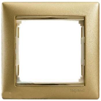 L770301 Рамка 1п мат золото Valena