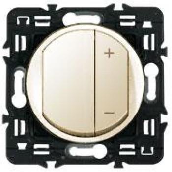 Светорегулятор клавишный 600Вт, слоновая кость