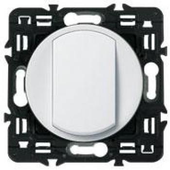 Выключатель 1-но клавишный с 2-х мест (переключатель), белый