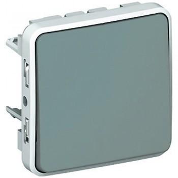 Выключатель 1-но клавишный с 3-х мест (перекрёстный), серый