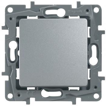 Выключатель 1-но клавишный, алюминий