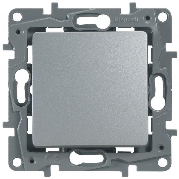 Выключатель 1-но клавишный с 2-х мест (переключатель), алюминий