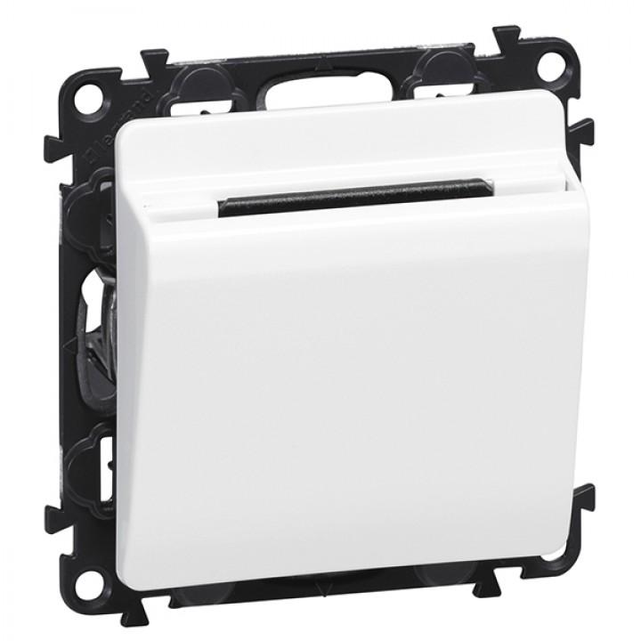 752025 , 755160 , 089806  Выключатель с ключ-картой c подсветкой, белый Legrand