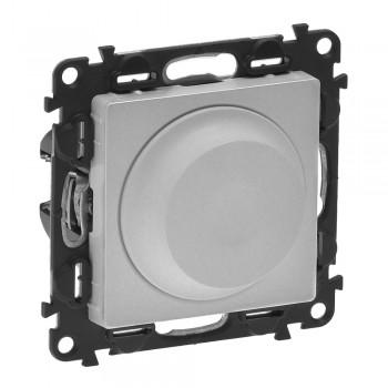 Светорегулятор поворотный, без нейтрали, алюминий