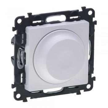 Светорегулятор поворотный, без нейтрали, белый