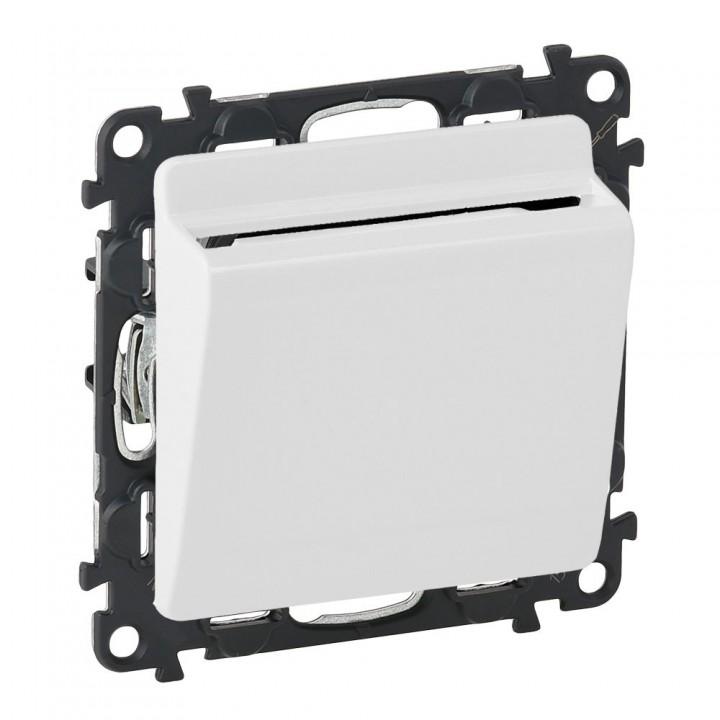 752025 , 755169 , 089806  Выключатель с ключ-картой c подсветкой, перламутр Legrand