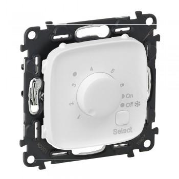 Термостат для теплого пола с датчиком температуры, белый
