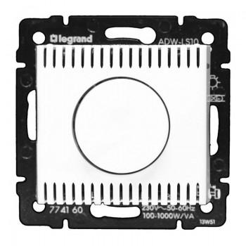 Светорегулятор поворотный 100-1000Вт, белый