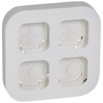 Блок установочный на 4 механизма, белый
